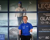 Andrew Mullen unveiling his 'Legends will Rise' image at Tollcross International Swimming Centre (2)